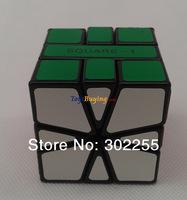 10pcs/lot MF8 Square-1 SQ-1 magic Cube Twist puzzle Black/white base PVC sticke Free Shipping