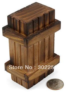 50pcs/lot secret lock Magic IQ  gift box Magic wooden gifts box Promotional gift idea- EMS Brain Teaser puzzle free shipping