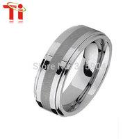 Free Shipping+Free engrave logo New Retail Titainum men's ring
