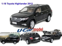 1pcs/lot  1:18 Original 2012 TOYOTA HIGHLANDER  Die-cast Car Model( New Arrival) Black