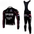 2010 Lampre Winter Fleece Thermal Long Sleeve Cycling Jersey Cycling Wear + Bib Pants SET SIZE:XS-4XL