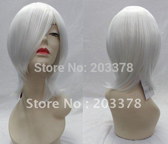 White Bag Face hair Online Game Cosplay Wigs(Free Shipping) 10pcs/lot mix order(China (Mainland))