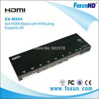 4x4 HDMI Matrix Switch (With IR Control) (China&Free Shipping&100%QA)