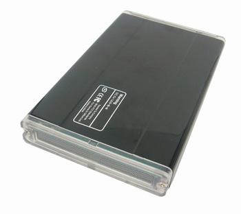 wholesale free shipping  Black USB eSATA to SATA HDD External Enclosure CASE