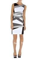Free shipment  2011 New fashion UK Multicolor Structured bandage dress C045