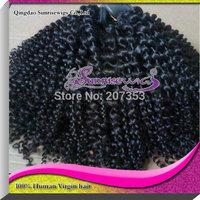 100% human virgin brazilian  hair kinky curly  hair weft ,10-30inches instock,unprocessed hair