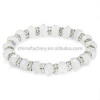 fashion stretch one row single crystal line bracelet