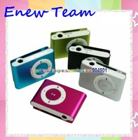Free shipping by dhl Wholesale Clip Mp3 player with card slot mini mp3 player ,100% good working