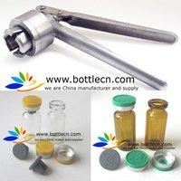 1piece vial crimper of 13mm, 20mm flip off  tops caps manual crimping crimper sealing capping tool