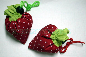 EMS fast free shipping (150pcs/lot) HOT SALE fashion strawberry bags, foldable shopping bags wholesale