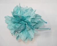 "clearance 12pcs/lot, 3.6"" fashion small flower headband handmade flower lace alice band AJB-0010, free shipping 5colors"