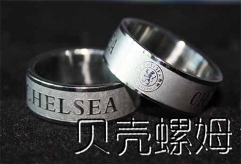 London FC Chelsea stainless steel silver ring