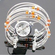 50 pcs/lot Charm Bracelet Bangle Watch Jewelry Watch Fashion Lady's Women Watch quartz wristwatches Beads Free Shipping K482(China (Mainland))
