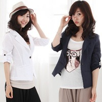 Wholesale - 2012 NEW Free Shipping Women&amp;#39;s Fashion coat Casual small suit Slim jacket 53118