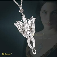 925 Sterling Silver  Lord of the Ring Silver Arwen Evenstar Elf Necklace Pendant - Free Shipping Wholesale