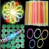 Wholesale - Free shipping 100pcs/lot Led flashing lighting wand,DIY fluorescence glow sticks bracelets