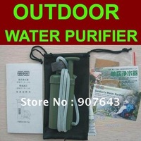 Free shipping,soldier's water filter,100% remove the bacteria in water,suit for camping and emergency