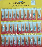 New arrival fishing lures,high quality low price spinner lures(1pack=30pcs )