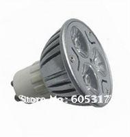 [Free shipping] 10pcs/lot Day White / Warm White 3W GU10 High Power focus LED spot Lamp 110-240V 3x1W LED Lamp