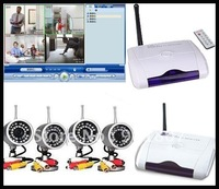 Wholesale Home USB receiver wireless camera 4CH USB DVR CCTV Home Security safety surveillance System Kit