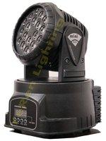 LED stage lighting led mini moving head wash light with 18pcs 3w led  LED disco stage light free shipping