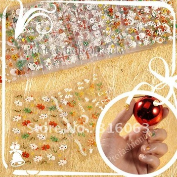 Free Shiping Different Style Christmas Nail Sticker Nail Decals Xmas Nail Art Decoration NA486