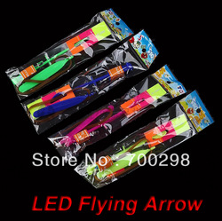 600pcs/lot flashing glowing LED arrow toy,light up flying arrow helicopter,4 colors,FREE SHIPPING(China (Mainland))