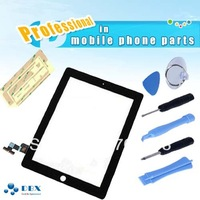 5pcs/lot Touch Screen for iPad 2 Digitizer white or black color  + 3M Adhesive and Open tools Free shipping by DHL EMS