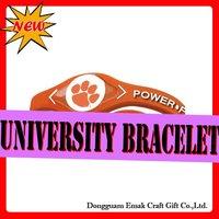 college team power bracelet,CLEMSON-TIGERS