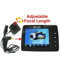 Freeshipping, 2.5 Inch LCD Screen Mini DVR with Pinhole CCD Camera