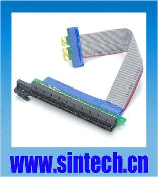 5pcs/lot PCI-E PCI E express 1X to 16X riser card adapter extender cable 15cms