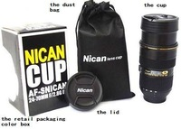 60 pieces/lots wholesale stainless steel liner Zoomable telescopic lens cup coffee Mug (Zoom Version)