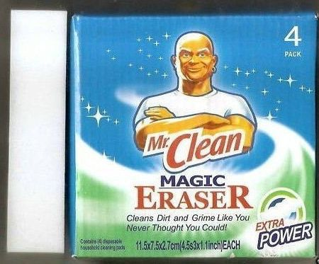 Free shipping1lot=1pack=4pcs Procter & Gamble Mr. Clean Magic Eraser Sponge Cleaner without detergent Magic Sponge As Seen On TV(China (Mainland))