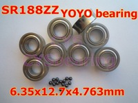SR188ZZ stainless steel hybrid bearings YOYO bearings with black Si3N4 ceramic balls