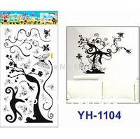 free shipping!10pc/lot 68*34cm Good Quality DIY tree Decoration Fashion Wall Sticker room sticker house decals wall sticker