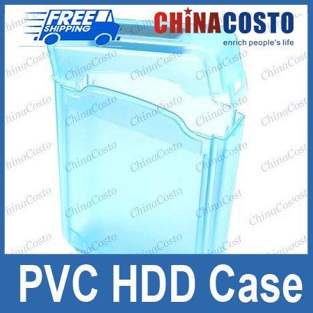 Blue 3.5'' IDE SATA HDD Hard Drive Disk Case Storage Box,Free shipping