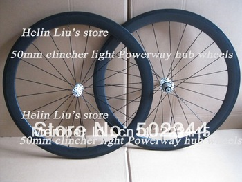 700C full carbon 50mm clincher wheels with Powerway Alloy super light hub,only 1450g