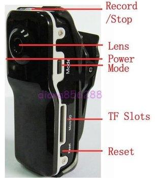 free shipping 1pcs Mini DV DVR Sports Video Camera MD80 & Mini DV Perfect design 720p