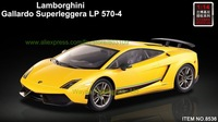 New MJX 4ch 1:14 Gallardo Superleggera LP570-4 for Lamborghini charge 33CM radio control car rc car lights rubber tires car 8536