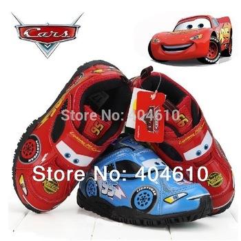 Children shoes ! Retail ! Boy fashion sport cartoon car PU shoes 2 design skid resistance kids boy wear