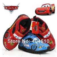 Children shoes ! Retail ! Boy fashion sport cartoon car PU shoes 2 design skid resistance kids boy wear  ETJ-X0051