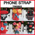 WHOLESALE toy strap charm Button baby handmade Mobile phone Handbag Pendant birthday promotion gift say hi 20pc/lot YW 0805
