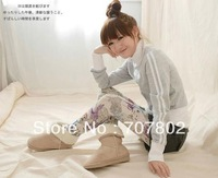 Lowest price High Fashion Snow Shoes/ Suede Fur Flats Snow Winter Womens Boots shoes lady boots