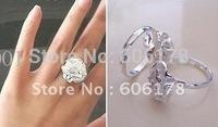 2011 hot new Popular Hot Cute Hibiscus Rose ring,Finger ring 20pcs/lot
