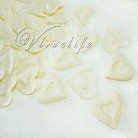 Free shipping &1000PCS Ivory Heart Design Silk Rose Petals Wedding Party New