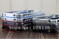 5pcs/Lot, Free shipping! Very Popular & Sort Sold Metal Aluminum Frame For Iphone4s Blade Case