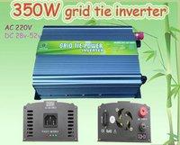 350W Grid Tie Inverter for Solar Panel 28V-52V DC(350 watt, 220V, High Efficiency, Free Shipping)