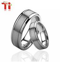 Hot Sale Free shipping +Free engrave Tungsten Engagement Lovers' Rings By Pair, 100% Tungsten Carbide