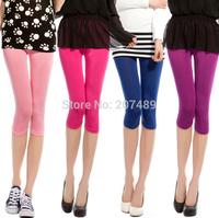 Capri pants Wholesale retail Summer Women Leggings  short Pants Skinny Style Leggings Sexy Trim Bottom Short whcn