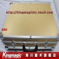 Wholesale! Gold color/46*35*12cm/Carrying Case With Table Base/Stage Tripod Table/Glass Breaking Table/magic trick/magic prop